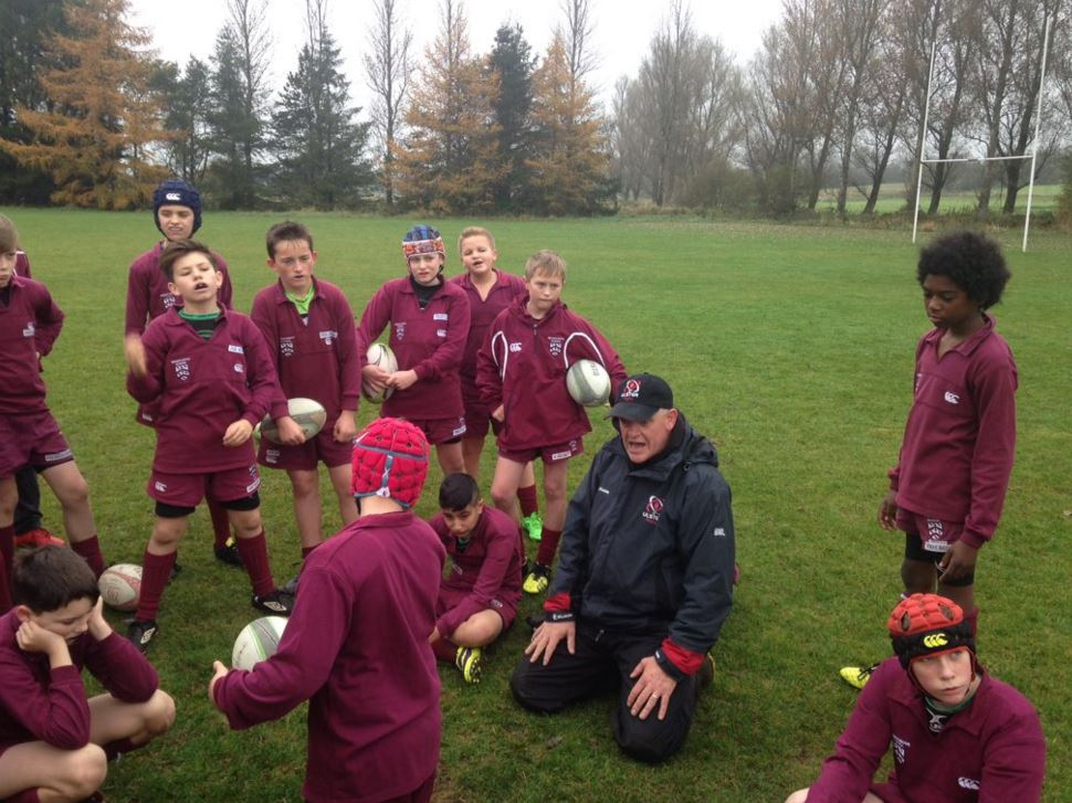 Training session with Brian McLaughlin (former Ulster Head Coach)