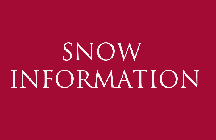 Snow Information - Updated 14.11pm